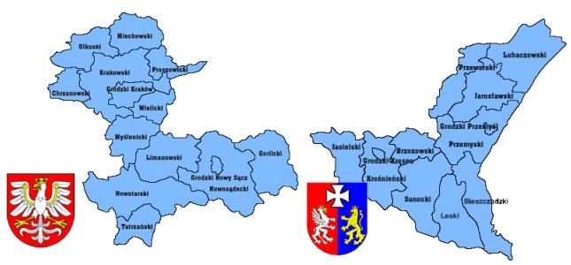 Obszar działania woj. małopolskie